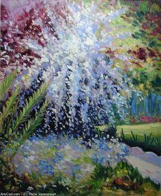 Artwork >> Pierre Vanmansart >> 'In the garden of my mother', spirea van houtteï