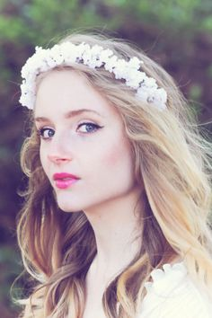 bridal headpiece, rustic wedding flower, bridal hair crown, woodland wedding