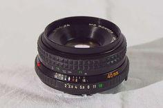 MINOLTA MD 45mm 1:2 mit leichtem Mangel Container, Photos, Camera Lens