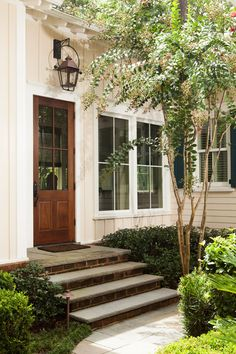 Side door, landscaping | Andrew Sherman Photography, Savannah, GA.