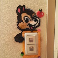 Chip (Chip'n Dale) light switch frame perler beads by aminotty