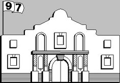 alamo battle coloring pages - photo#14