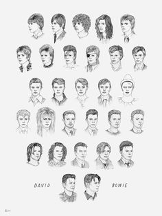 ALL OF DAVID BOWIE'S HAIRSTYLES FROM 1964 TO 2014