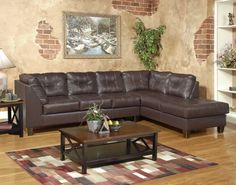 San Marino Chocolate 2pc Sectional Sofa