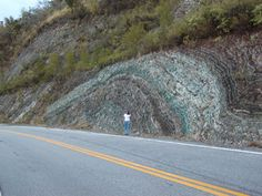 Fantastic anticline in Puerto Rico