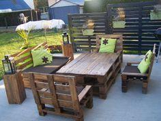 mon salon de jardin en palette