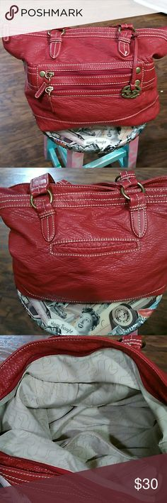 Marc echo red slouch bag New condition,  easy carry, fits a lot everything clean and working. Smoke free home Marc ecko Bags Shoulder Bags