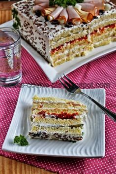 Recipes for small and big kids .: The easiest salty cake bread toast! Greek Recipes, Desert Recipes, Sour Foods, Greek Sweets, Fingerfood Party, Sandwich Cake, Party Finger Foods, Salty Cake, Other Recipes