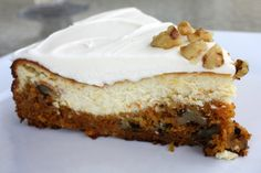 Copycat Carrot Cake Cheesecake | This carrot cake recipe tastes like it's right off of the Cheesecake Factory menu!