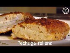 Pechuga rellena Villaroy, jugosa y muy sabrosa #246 - Cocina en video.com - YouTube