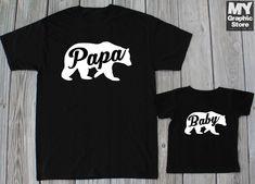Papa Bear T-shirt Daddy Son Matching T-shirt Cute Christmas Gift  #MyGraphicStore #GraphicTee