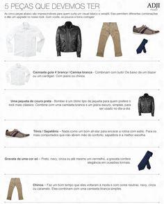 5 peças que os homens devem ter no guarda-roupa