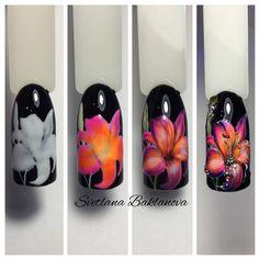 Nails PRO™ МАНИКЮР УРОКИ,МК материалы для ногтей Diy Nails, Cute Nails, Pretty Nails, Gel Nail Art, Easy Nail Art, Spring Nails, Summer Nails, One Stroke Nails, Floral Nail Art