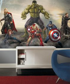 RoomMates JLM Avengers Age Of Ultron Character XL Chair Rail - Large superhero wall decals
