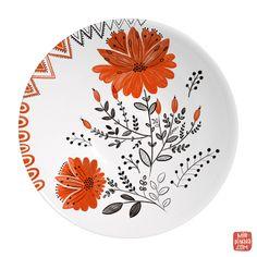 Kitchen Towels designed by Dinara Mirtalipova Sharpie Plates, Buddha Canvas, Plant Images, Plates And Bowls, Hand Painted Ceramics, Mandala Art, Decoration, Painting Inspiration, Decorative Plates