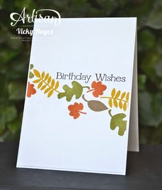 Stampin' Up ideas and supplies from Vicky at Crafting Clare's Paper Moments: A quick male card using Fall Fest by Stampin' Up