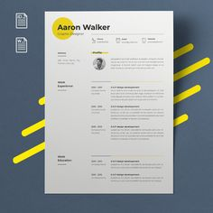 Touche de couleur modern resume design resume template word cv template word cv design curriculum vitae free resume template teacher resume with photo Resume Design Template, Cv Template, Resume Templates, Graphisches Design, Web Design Company, Cv Ingenieur, Web Design Tutorial, Cv Inspiration, Graphic Design Resume