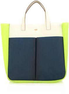 ANYA HINDMARCH  Raw Nevis Tri-colour Bag  $391