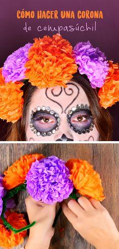 Crea tus propias flores de cempasúchil que son ideales para poner en la ofrenda o las puedes utilizar para como disfraz para día de muertos. Son muy fáciles de hacer y muy económicas.