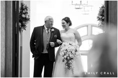 Bride & father of the bride right before walking down the aisle