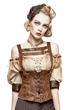 Remis en stock / Back in stock: Faux leather brown top waistband effect with straps steampunk punk rave Prix: 52.90 #new #nouveau #japanattitude #tops #steampunk #top #bustier #underbust #corset #brown #straps #lacing #punk #rave #punkrave #woman #s204 #s204co #ps #marron #pu #rayon #faux #leather #p #waistb #effect #straps #s-204 #s-204co