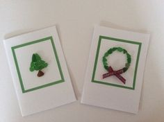 Two handmade Seaglass Christmas cards sea by Suzziesbitsandbobs
