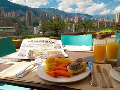 Medellin, Colombia: El Colombiano news with breakfast