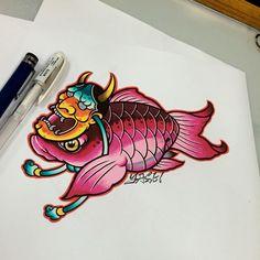 金魚 養不養? 歡迎來店諮詢預約,專屬為''您''設計刺青喔,臺北市文山區羅斯福路5段235,捷運萬隆站2號出口,02-86635351,Line ID:wonderland-tattoo #tattoo #inked #winderlandtattoo #魔境刺青 #台北刺青#刺青#taipeitattoo#colortattoo
