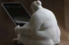 Don't follow everyone for your iPad stand ... Think outside the box with this artistic take on a classic accessory