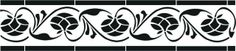 CS-001 Stencil Şablon 13*57