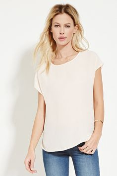 Cap-Sleeve Top   Forever 21 - 2000152268