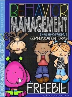 Behavior Management FREEBIE  - teacher/parent communication forms