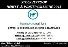 Stockverkoop Hannelore Fashion winter 2015 -- Zonnebeke -- 14/10-16/10