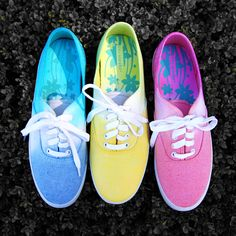 Tie dye ombre shoes for spring