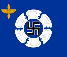 The flag of the Finnish Air Force Academy