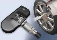 Diagram of how the tire pressure warning system operates.