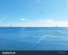 blue sea and sky background - view over