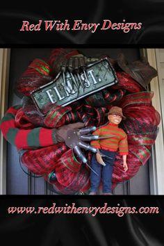 Halloween Wreath Deco Mesh Wreath Mesh by RedWithEnvyDesigns, $298.00