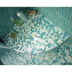 Les Meilleures Images Du Tableau Mosaique Salle De Bain Sur - Carrelage piscine et tapis vert canard