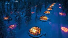 The Hotel Kakslauttanen and Igloo Village in Finland is home to unique thermal glass igloos that offer some of the best views of the Northern Lights. (Courtesy of Hotel Kakslauttanen and Igloo Village) Glass Igloo Northern Lights, Northern Lights Viewing, See The Northern Lights, Northern Lights Hotel, Igloo Village, Village Hotel, West Village, Glamping, Lappland