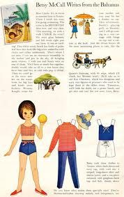 Loved the Betsy McCall paper doll in each issue of McCall's magazine. Such cute clothes and cheerful little stories.