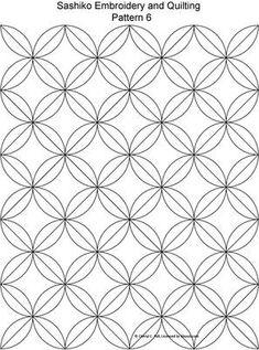 FREE Sashiko Embroidery Patterns - Set1