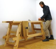 """The BA student Anton Nilsson at the programme for """"Bygghantverk"""" in Mariestad in Sweden has made a workbench for his final thesis. In Sweden this is called """"kandidatexamen. Photo: Anton Nilsson"""