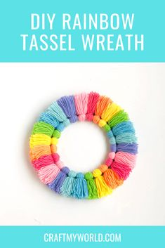 How To Care For Your Survival Knife – Metal Welding Wreath Crafts, Diy Wreath, Yarn Crafts, Diy Crafts, Tulle Wreath, Burlap Wreaths, Diy Tassel, Tassels, Woolen Craft