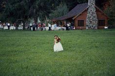 Flower girl near Log Cabin at Mt. Springs Lodge