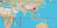 Vietnam Pontos idő  1:!3 Vietnam, Diagram, 1, World, Stitches, The World