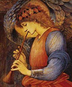 An Angel - Burne-Jones Edward Style: Romanticism Genre: religious painting