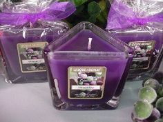 Muscadine -Two Triangle Jar Scented Candles - 7 Oz. Burn up to 65 hours per candle. Premium scented 7 oz Jar Candle made with premium grade fragrance oil and non-lead wicks. Made in the USA.