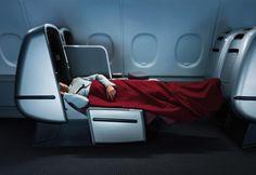 Qantas Business Class Sleeper A380 (Marc Newson)
