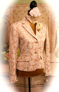 Damask Jacket French Style Blazers Lace Jackets by SownThreads